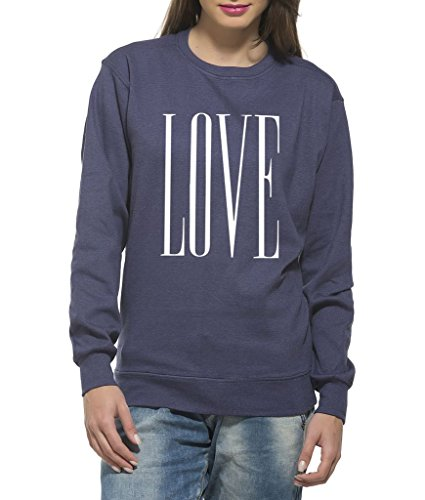 Clifton Women's Printed Neppy Melange Sweat Shirt R-neck-Lavender-Love -L