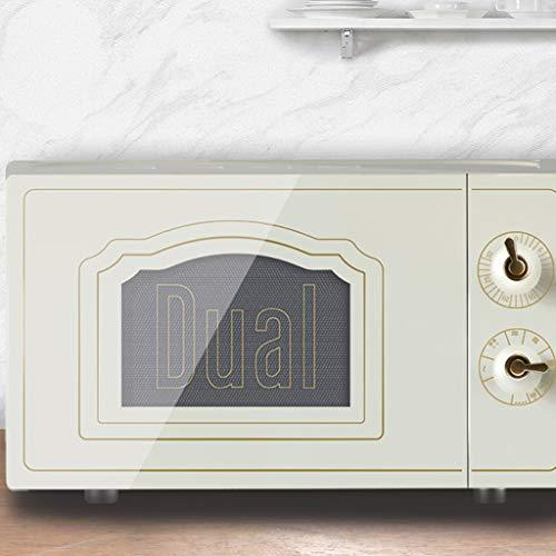 Unbekannt Retro-Mikrowellen-Konvektionsofen, 0.7 Cu.ft 9-Gang-Toaster-Ofen für Popcorn, Kaffee, Edelstahl Smeg Kleine kompakte Mikrowelle für Schlafsaal (Farbe : Weiß)
