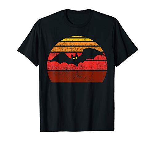Vampir Kostüm Frauen Süße - Retro Vintage Fledermaus Halloween Vampir Kostüm Geschenk T-Shirt