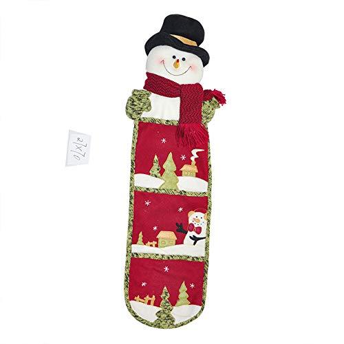 (Gwdzd Geschenktüte Weihnachten 1Pcs Vlies Kalender Aufkleber Bestickt Hängenden Beutel Dekorationen Zubehör)