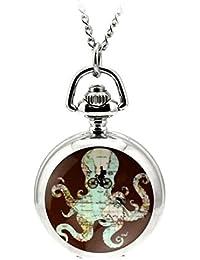 Gudeke Reloj de Bolsillo Retro para Mujer Reloj de Bolsillo para Mujer Reloj de Bolsillo con