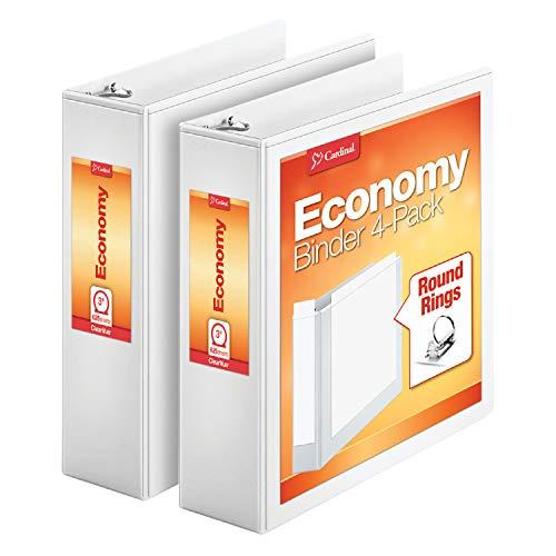 Kardinal Wirtschaft rund Ring View Bindemittel, 2,5cm, 4pro Pack (79510) 3-Inch (2-Pack) weiß (3in Bindemittel)