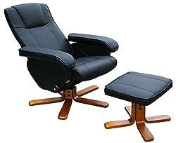 KMH®, Fernsehsessel/Relaxsessel mit Fußhocker (Kunstlederbezug) (#204634)