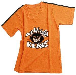 Die Wilden Kerle Kinder Trikot Logo, orange, M, 3500-022
