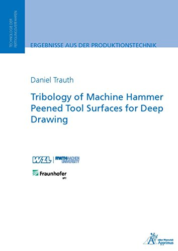 Tribology of Machine Hammer Peened Tool Surfaces for Deep Drawing (English Edition) (Hammer-schleife)