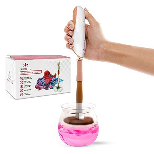 GLAMARA Make-up Pinsel-Reiniger und –Trockner, saubere und trockene Pinsel in verschiedenen Größen, mit Reinigungsmittel, sekundenschneller, elektrischer Reiniger, getestet und bewährt