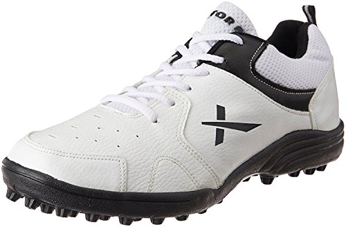 Vector X Cricket Studs Sports Shoes - White/Black, Size 6 UK