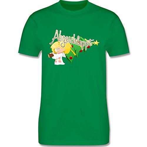 Weihnachten - Abgeschleppt - Christbaum - L190 Herren Premium Rundhals T-Shirt Grün