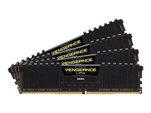 Corsair Vengeance LPX 64GB (4x16GB) DDR4 3200 MHz C16 XMP 2.0 High Performance Desktop Arbeitsspeicher Kit, schwarz -