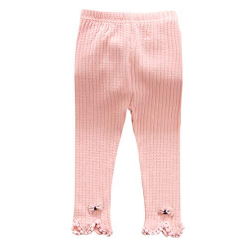 Happy Event Neugeborenes Baby Stripe Skinny Bogen Pants Karikatur Stretchige warme Gamaschen Stricken (Rosa, 6-12 Months-6) (Rosa Boot-gamaschen)