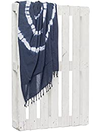 Montse Interiors Toalla Pareo Playa Reversible Tejida (Blue-2)