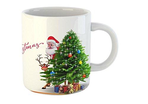 Mugs4You Ceramic 400 ml Merry Christmas Mug (Multicolour)