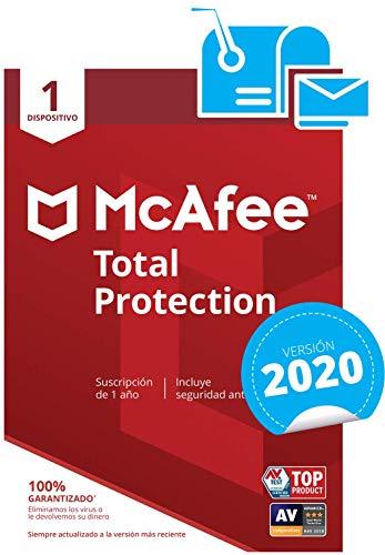 McAfee Total Protection 2019 - Antifurto per PC/Mac/Android/Smartphone, abbonamento di 1 Anno