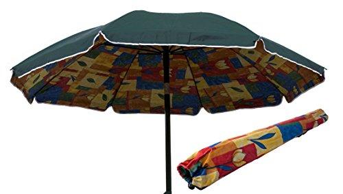 Joy summer ombrellone spiaggia in polycotton 200 cm lido mare tindari - verde scuro