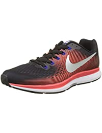 Nike Men's Air Zoom Pegasus 34 / Black/Mtlc Silver Running Shoes