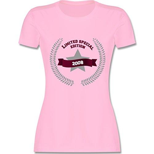 Geburtstag - 2008 Limited Special Edition - XXL - Rosa - L191 - Damen T-Shirt Rundhals (2008 Rosa T-shirt Damen)