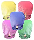 #4: Dreams Full Size Sky Lanterns/Paper Wish Lamp Multicolored (Pack of 5)