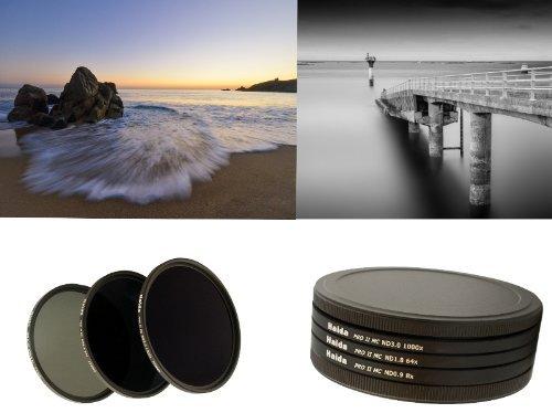 PRO II Digital MC Neutral Graufilter Set bestehend aus ND8, ND64, ND1000 Filtern 62mm inkl. Stack Cap Filtercontainer und Cap