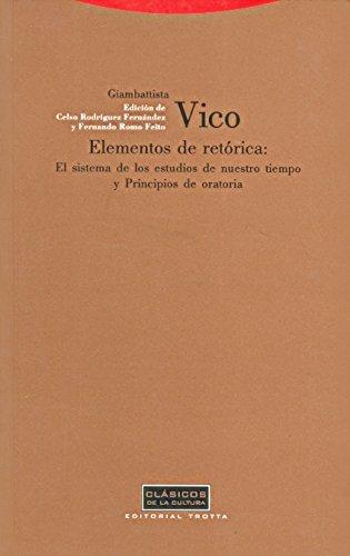 Elementos de retórica (Clásicos de la Cultura) por Giambattista Vico