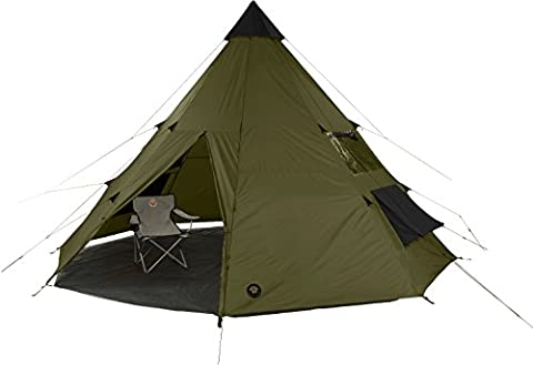Grand Canyon 602007 Tepee - Tente tipi indienne (8 personnes), olive/noire