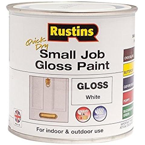 Rustins gpwhw250trabajo Gloss pintura, secado rápido, pequeño, 250ml, blanco (Pack de 12)