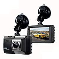 "Prom-note Dash Cam 720P Full HD Car Camera DVR Dashboard Camera Video Recorder In Car Camera Dashcam For Cars 140 Wide Angle WDR With 3"" LCD Display Night Vision Motion Detection And G-sensor"