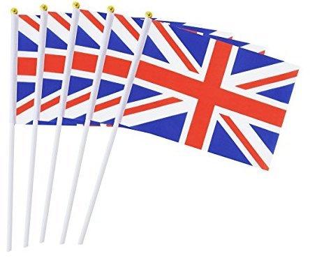 Kleine Flaggen Hand 50pcs 14* 21cm Flagge Deko 14*21cm England