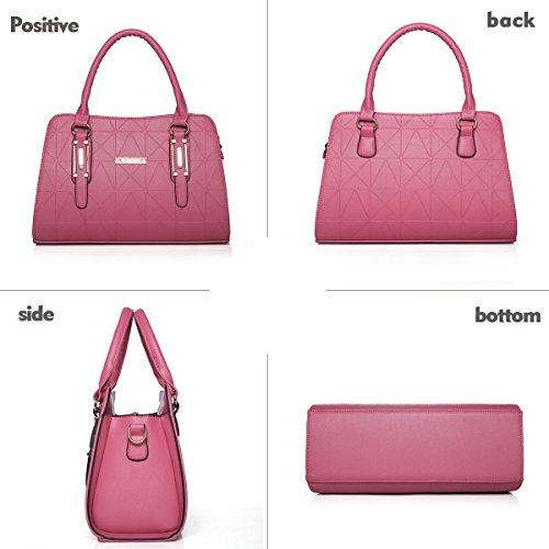Sunas Il Lingge del sacchetto di spalla della borsa delle donne di modo mette in rilievo il raccoglitore del sacchetto del messaggero del sacchetto delle donne di quattro parti deep Blue