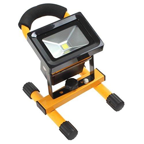 William 337 10W tragbare schnurlose Arbeitsleuchte, wiederaufladbare LED-Flut-Lampe für Camping / Wandern ( Farbe : Gelb - Freien Led Flut-im Cree