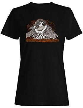 Diseño con mujer alada novedad camiseta de las mujeres nn77f