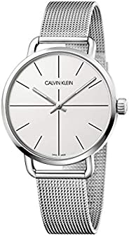 Calvin Klein Men's Quartz Watch, Analog Display and Stainless Steel Strap K7B2