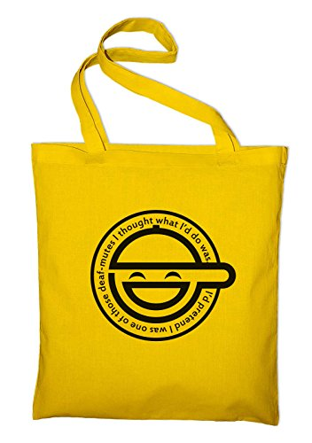 The Laughing Man Fan Logo Fan Jutebeutel Gelb