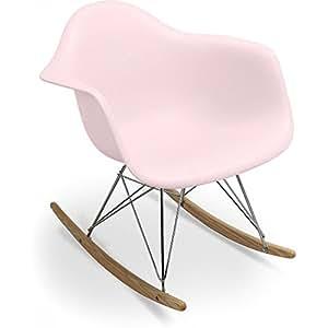 chaise bascule rar charles eames style polypropyl ne matt rose p le cuisine maison. Black Bedroom Furniture Sets. Home Design Ideas