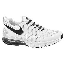 Nike Fingertrap Max Tb Mens Trainers 666410 Sneakers Shoes (Uk 7.5 Us 8.5 Eu 42, White Black 100)