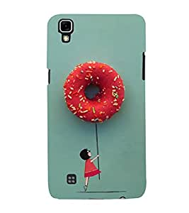 Hanging with Doughnuts 3D Hard Polycarbonate Designer Back Case Cover for LG X Power :: LG X Power K220DS K220