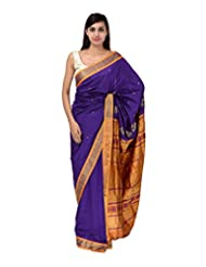 A1 Fashion Women Silk Blue Saree With Blouse Piece - B00VUS43V8