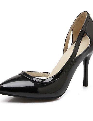 WSS 2016 Chaussures Femme-Bureau & Travail / Décontracté-Noir / Rouge / Blanc / Argent-Talon Aiguille-Talons / Bout Pointu-Talons-Cuir Verni red-us10.5 / eu42 / uk8.5 / cn43