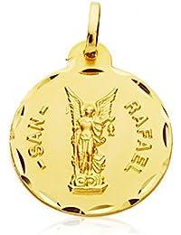 3602bdaa66d Alda Joyeros Medalla San Rafael 20 mm en Oro de 18 Ktes