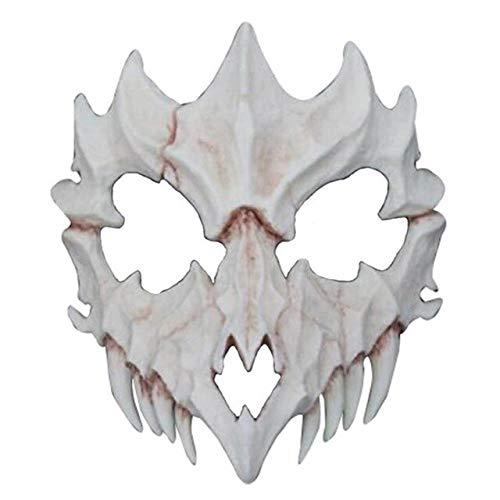Halloween 2 Rob Zombie Kostüm - Harz Knochen Maske Japanischen Götter Stil Cosplay Maske Half Face Covered Prom Performance Kunst Maske Halloween Kostüm Zubehör2