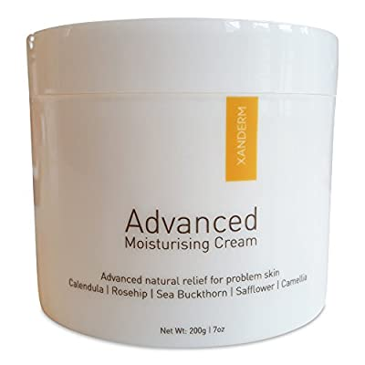 XANDERM Advanced - Eczema Cream & Natural Moisturiser Treatment for Dry or Itchy Skin. Rich, Thick & Soothing Cream Emollient for Hands, Face, and Body.