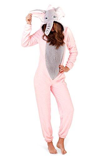 Lounge able, Donna Lusso 3d animale tutto in un jumpsuit costume intero elefante Large