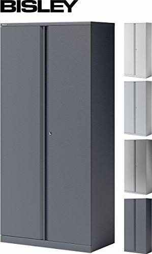 BISLEY Aktenschrank | Büroschrank | Flügeltürenschrank aus Metall abschließbar inkl. 4 Einlegeböden | Stahlschrank ist TüV / GS geprüft