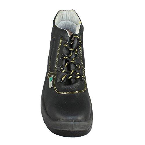 Siili Safety Baustiefel S3 SRC Arbeitsschuhe Berufsschuhe hoch Schwarz Schwarz