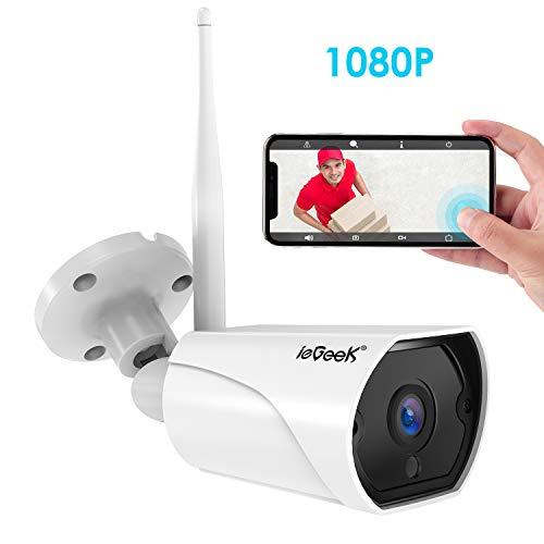 Caméra de Surveillance WiFi, ieGeek Caméra IP Extérieur HD 1080P sans Fil, Caméra Sécurité étanche...