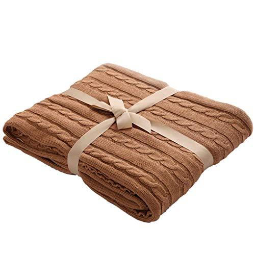 100% Baumwollkabel gestrickt Kuscheldecke,Goldbeing Handgemachte Gestrickte Decken Platzdecke...