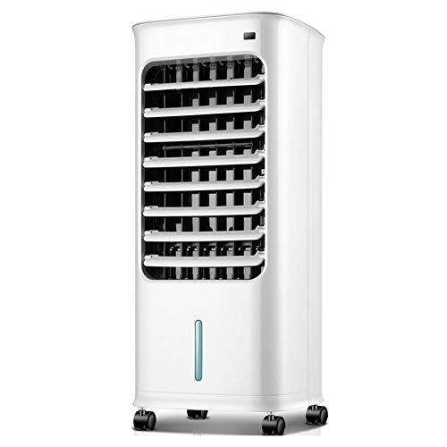 Dreifach-filtration (MuMa Klimaanlagenlüfter/Luftkühler/Mini-Lüfter, dreifache Filtration mit Einzelkühlung, 6 m Fernbedienung, 5 l Wassertank, 7-stündiger Termin-Zeitplan (Color : White))