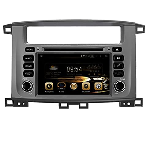 TOPNAVI 7inch 1024*600 Android 5.1.1 Car DVD Player for TOYOTA LAND CRUISER 100(1998-2007)/LC100/Lexus LX 470 Auto GPS navigation Wifi Bluetooth Radio 1.6 GB CPU Rockchip RK3188 Cortex A9 DDR3 Capacitive Touch Screen 3G car stereo audio Phonebook RDS AUX DVR Mirror Link 16GB Quad Core