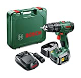 Bosch PSB 1800 LI-2 Cordless Combi Drill with Two