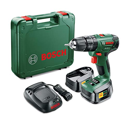The Bosch PSB 1800 Combi Hammer Drill comes in as a lightweight model perfect for general home use and DIY projects.  The model is effective at handling small to medium projects, it has enough power to support a speed of 1350rpm making it a good all round general purpose drill to have around the house.