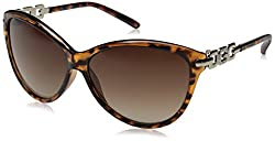 GUESS Womens Acetate Soft Cat-Eye Cateye Sunglasses, TO-34, 60 mm